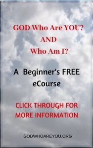 Beginner's Free eCourse Bible Study of GOD Who Are You? AND Who Am I? Knowing and Experiencing God by His Hebrew Names. Click through for more information. #BibleStudy, #BibleStudyForBeginners,