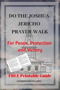 Do the Joshua-Jericho Prayer-Walk for Peace, Protection and Victory