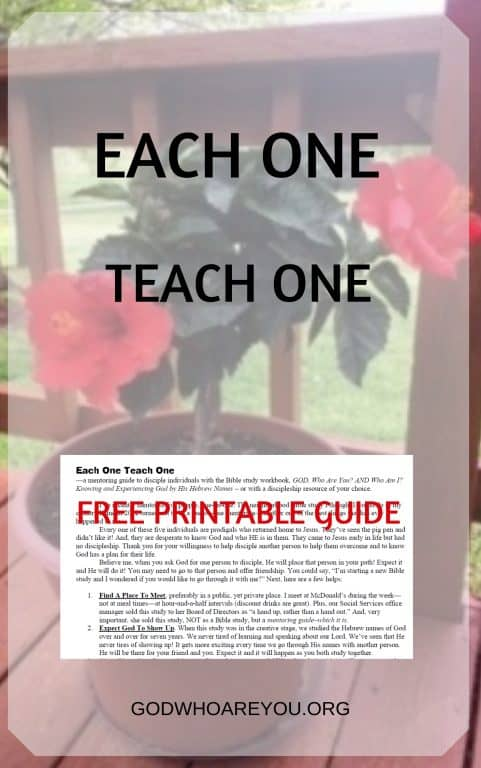 Each One Teach One with Free Printable Guide- Mentor