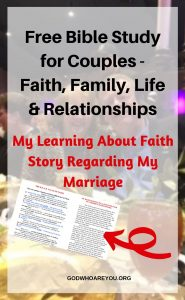 A COUPLE AT DINNER SHOWING A BIBLE STUDY FOR COUPLES IN FAITH FAMILY LIFE AND RELATIONSHIPS