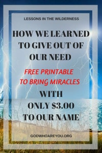 How I learned to give out of our need