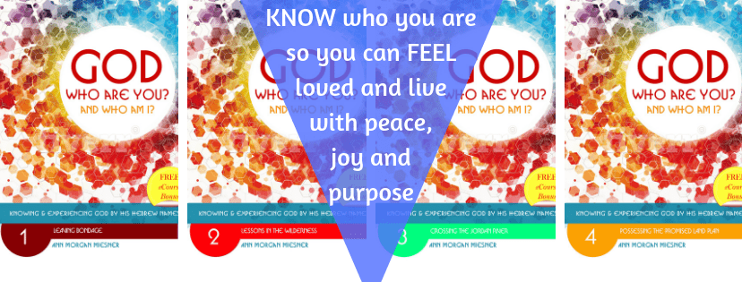 Header of all 4 eBooks of GOD Who Are You? AND Who Am I?