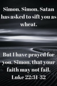 Jesus shows sifting as wheat