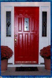 Red Door at Passover