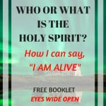 Green landscape with text overlay: Who What is Holy Spirit and How I can Say I am Alive