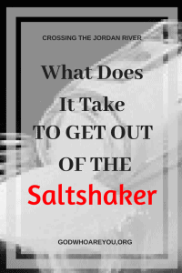 What Does it Take to Get Out of the Saltshaker?