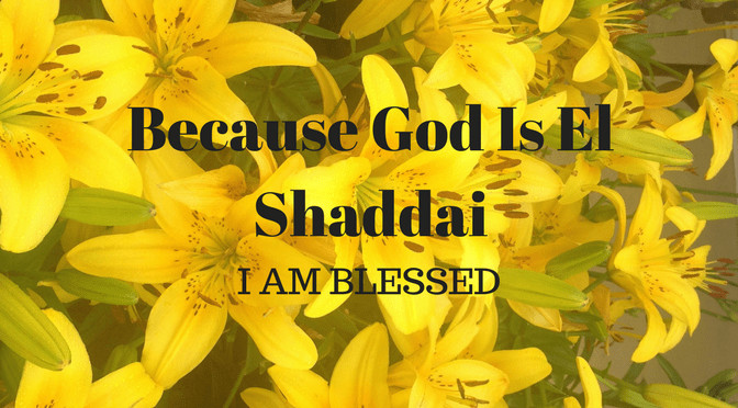 M6H How We Learned to Give: Because God is El Shaddai